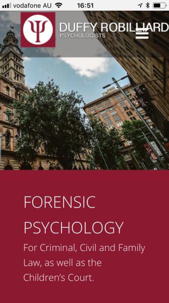 Forensic website mobile