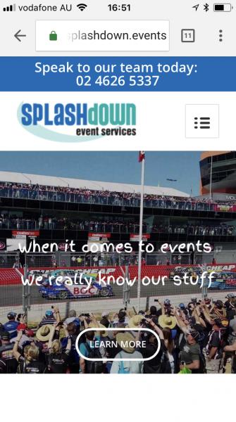 Event Equipment website mobile