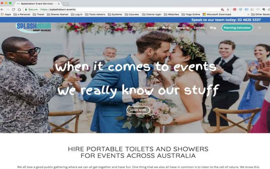 Events Website Makeover